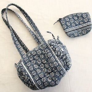Vintage Vera Bradley Indigo Purse Bag Set